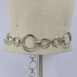 Silver Chain Belt Size S-M